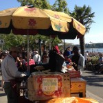 hot dog vendor, English Bay