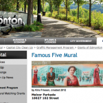 City of Edmonton 'Famous Five' mural is part of an anti-graffiti grant program