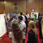 University of Victoria Engineering students present cycling research at Victoria City Hall.