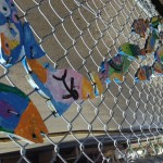 Fishy fence: a sign of creativity at work in Oaklands.