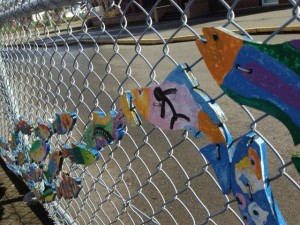 Fishy fence: creativity is evident in Oaklands.