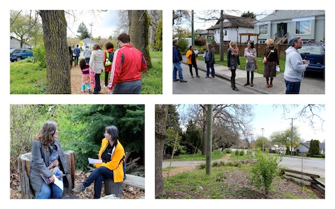 A collaborative walking consultation on green spaces in Oaklands neighbourhood, Victoria BC