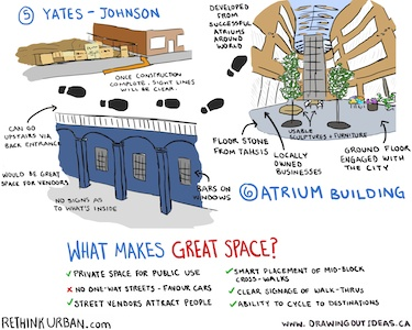 What makes great space? Placemaking is the process that creates great public spaces.