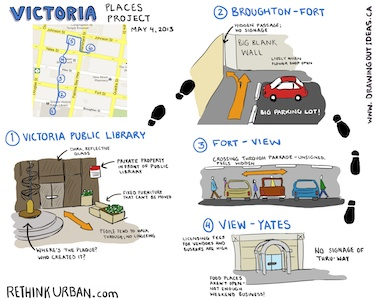 Plazas and passageways captured by graphic recorder Tanya Gadsby