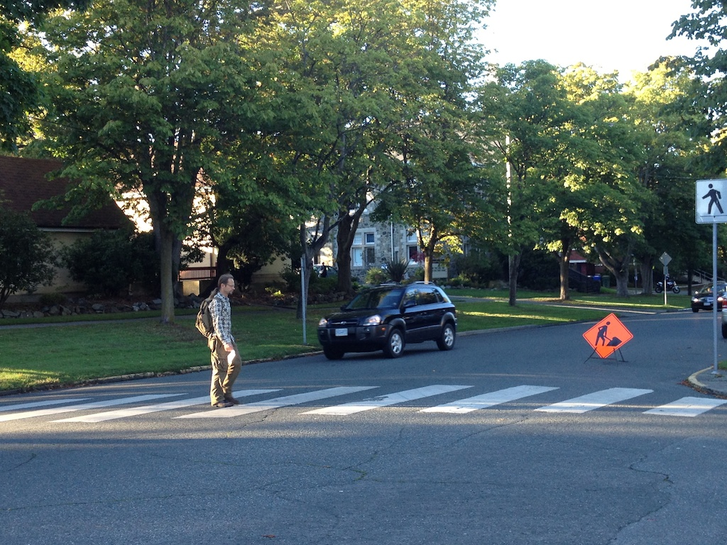 This marked crossing will be removed because another is being added down the street.  (image: Lorne Daniel)