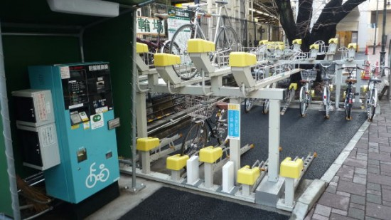 Bike parking in Japan