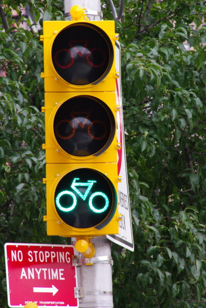Cycle signal: lets all street users know that bikes are using the space