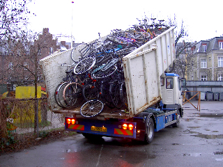 400,000 bikes are scrapped annually in Denmark photo by Sarah Rose Robert