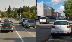 Separated versus non-separated bicycle infrastructure.