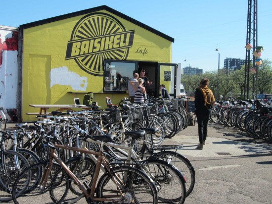 Baisikeli in Copenhagen- a hub for repairs, rentals and a café! photo by Sarah Rose Robert