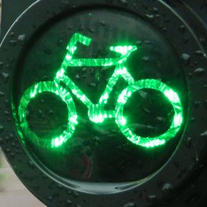 Cycle signals - becoming more common in North America.