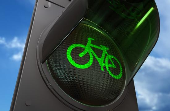 Lighted bike signals give cyclists a head start