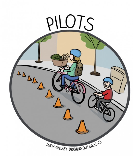 Create a roving campaign of bike lane pilots throughout your city.